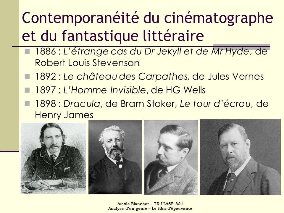 Contemporanéité du cinématographe et du fantastique littéraire