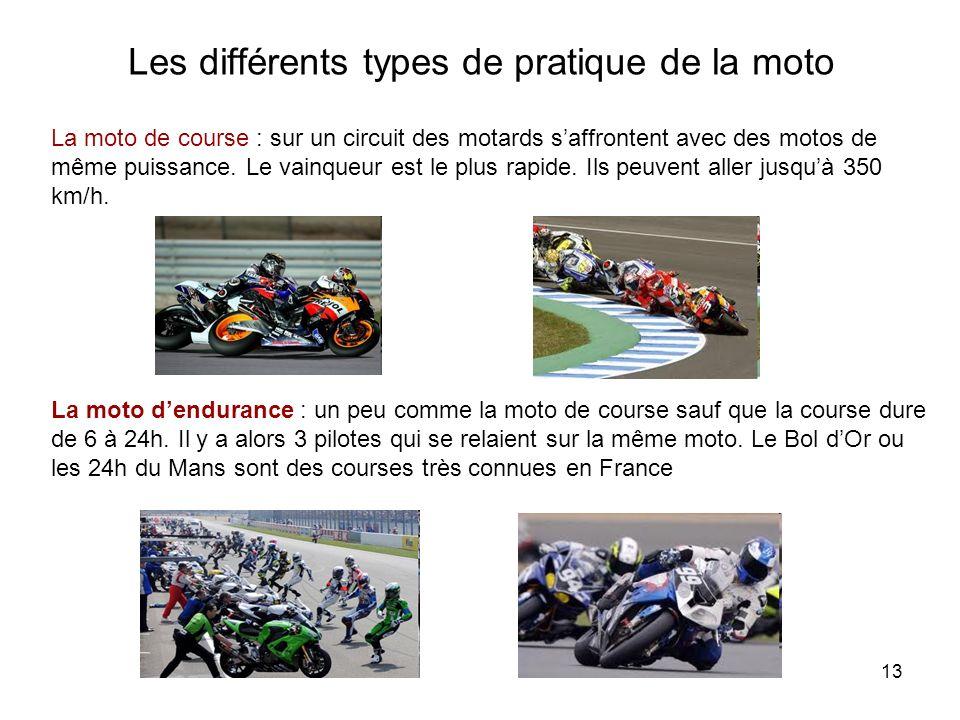 Les différents types de pratique de la moto