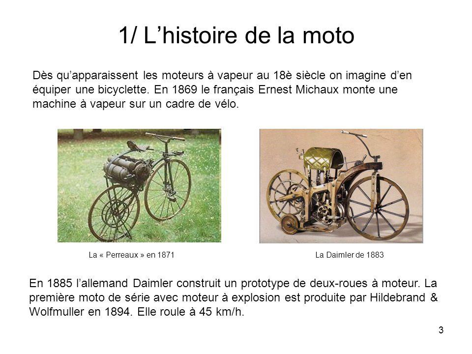 1/ L'histoire de la moto