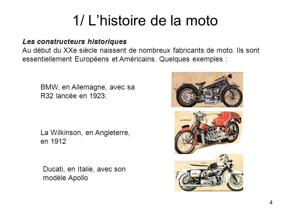 1/ L'histoire de la moto Les constructeurs historiques