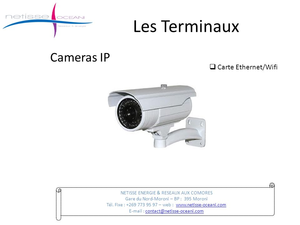 Les Terminaux Cameras IP Carte Ethernet/Wifi