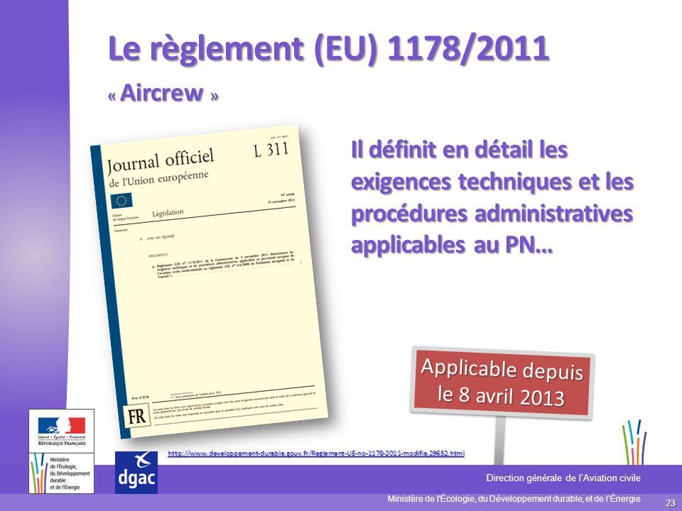 Applicable depuis le 8 avril 2013