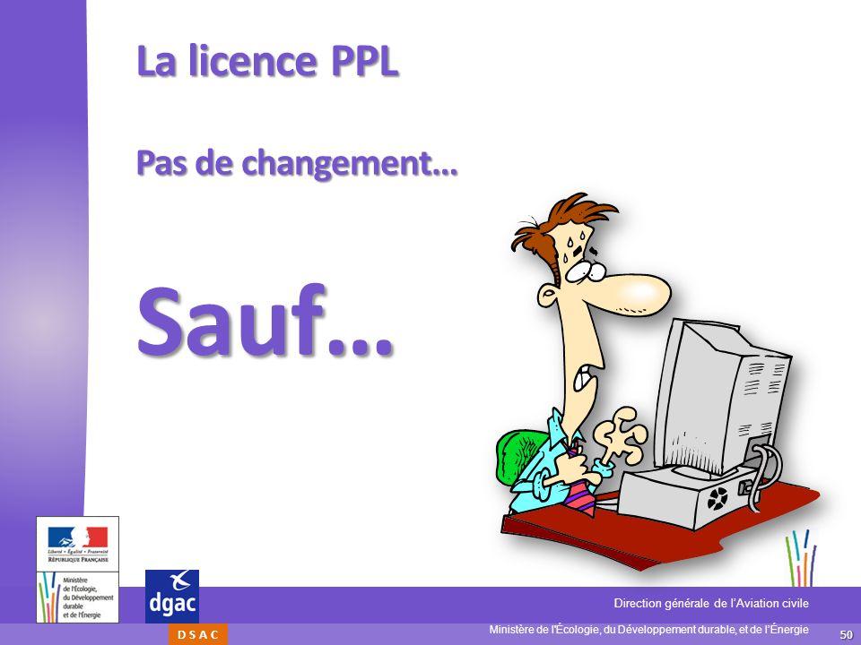 La licence PPL Pas de changement… Sauf…
