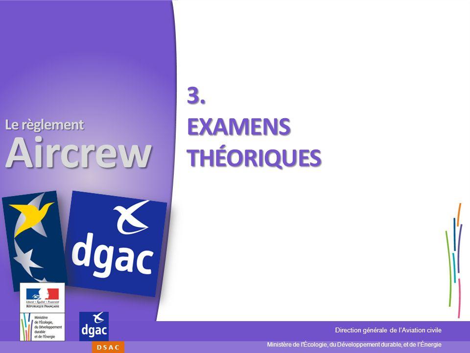 3. Examens théoriques