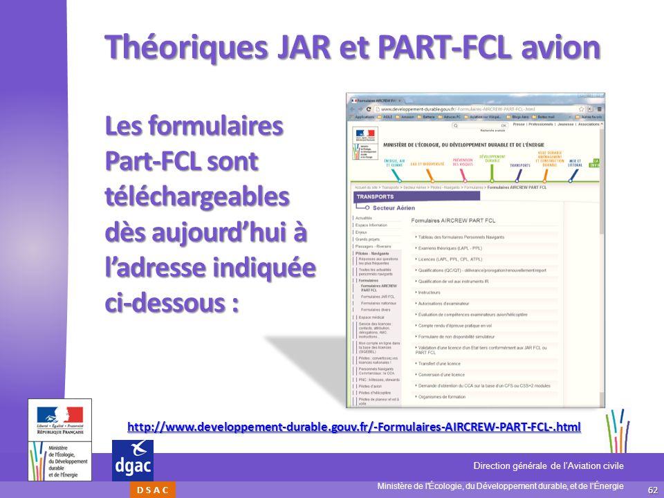 Théoriques JAR et PART-FCL avion