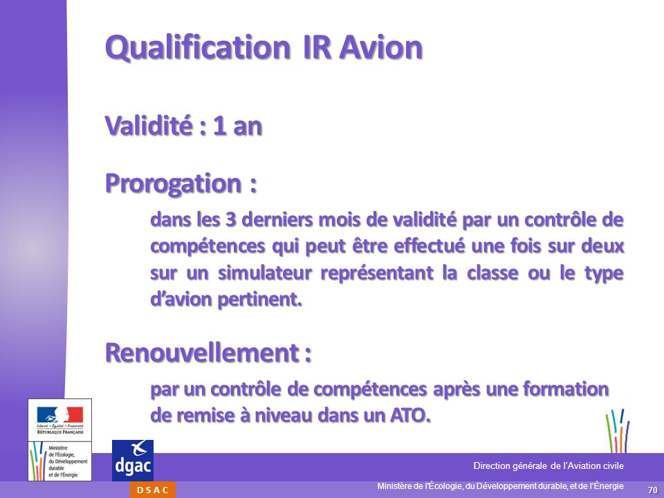 Qualification IR Avion