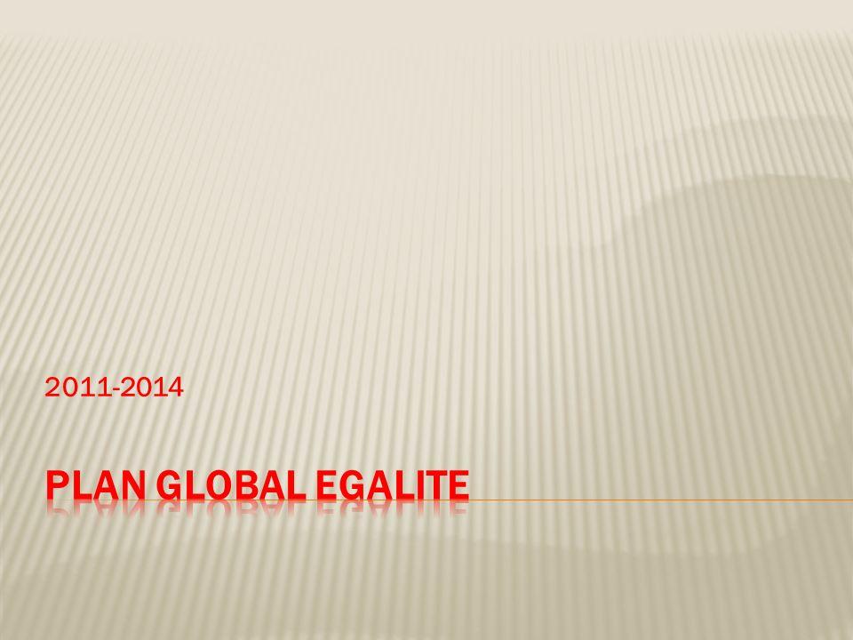 2011-2014 PLAN GLOBAL EGALITE