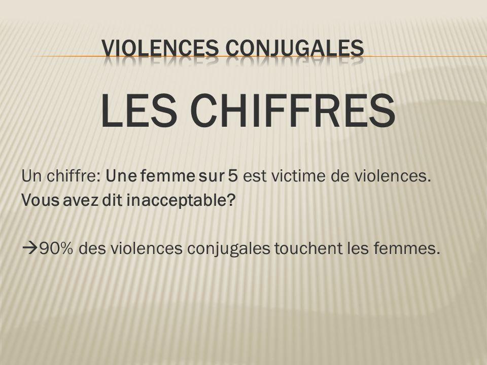LES CHIFFRES VIOLENCES CONJUGALES