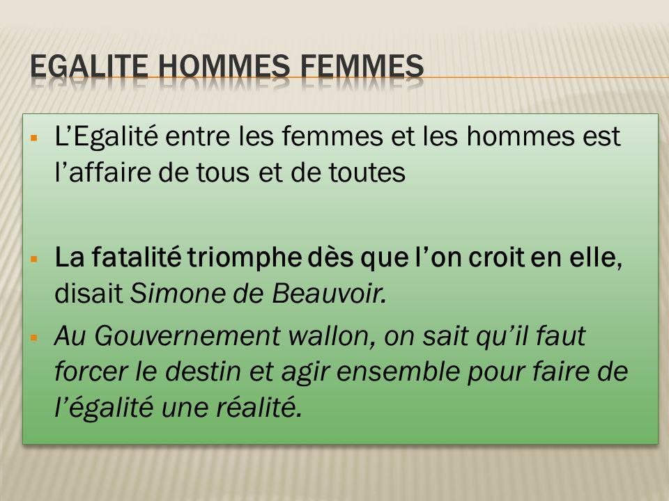 EGALITE HOMMES FEMMES L'Egalité entre les femmes et les hommes est l'affaire de tous et de toutes.