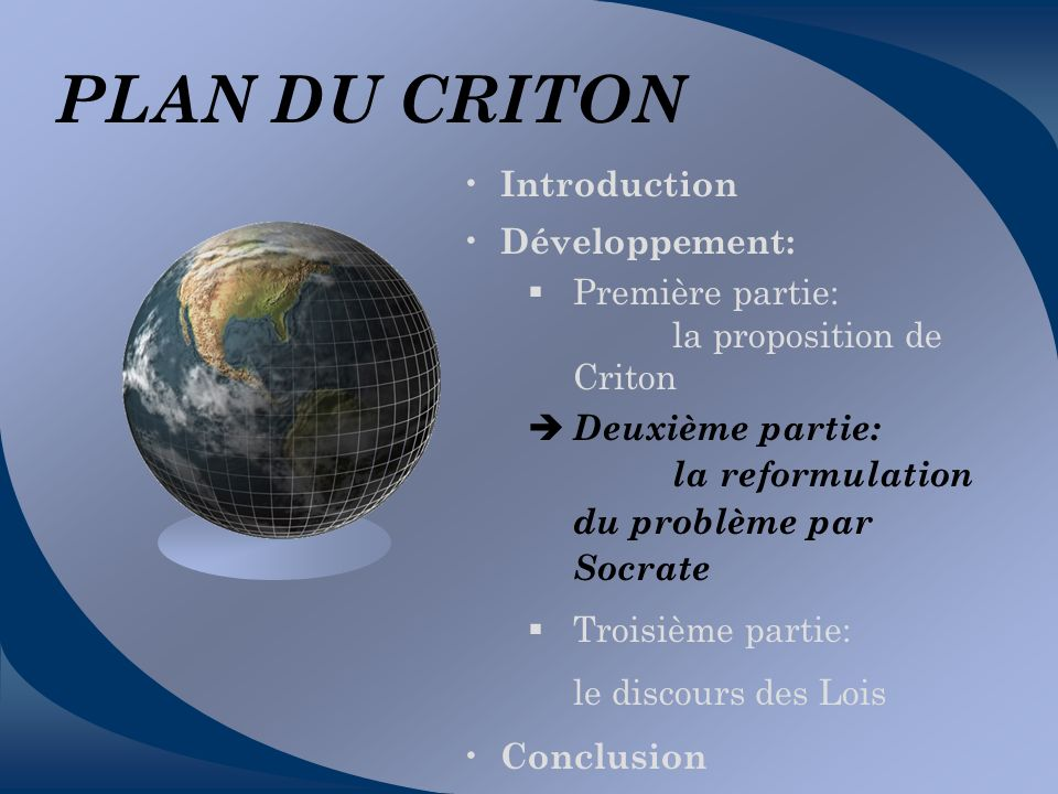 PLAN DU CRITON Introduction Développement: