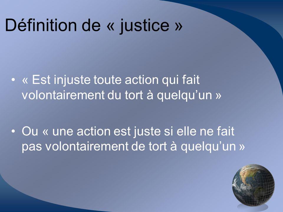 Définition de « justice »