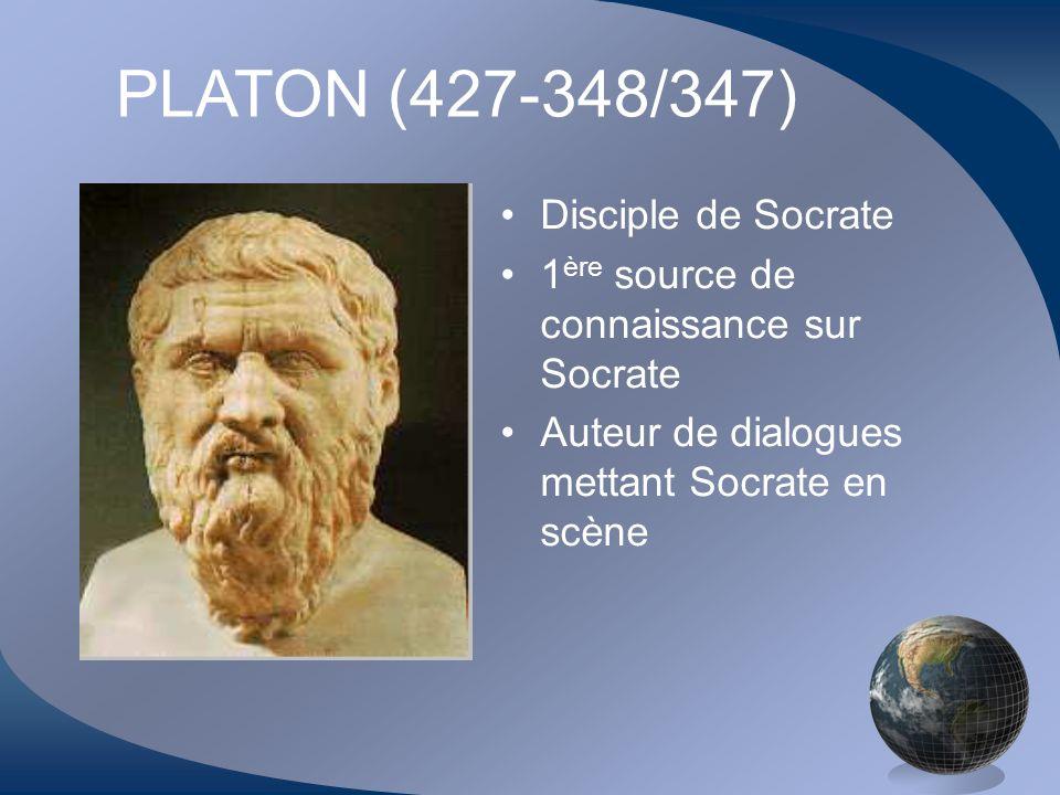 PLATON (427-348/347) Disciple de Socrate