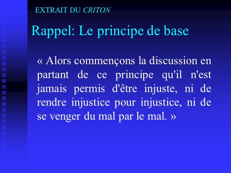 Rappel: Le principe de base