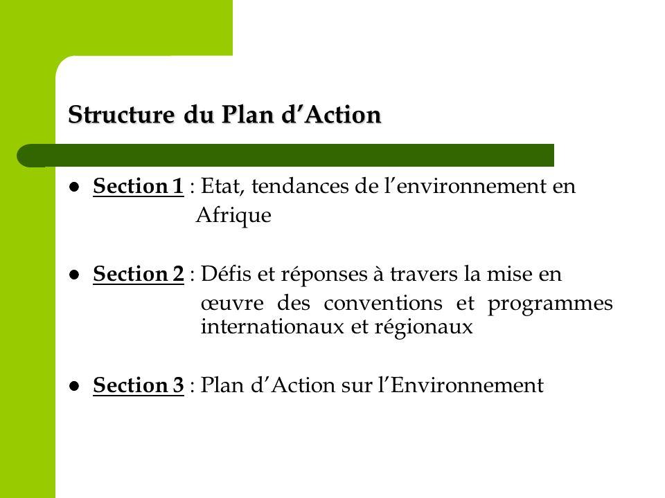 Structure du Plan d'Action