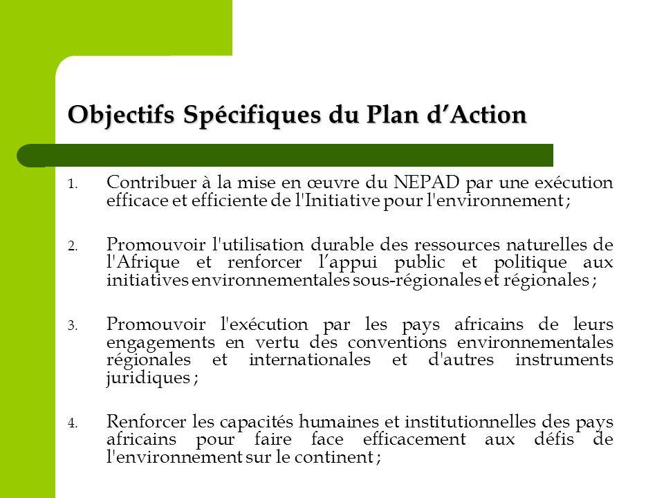 Objectifs Spécifiques du Plan d'Action