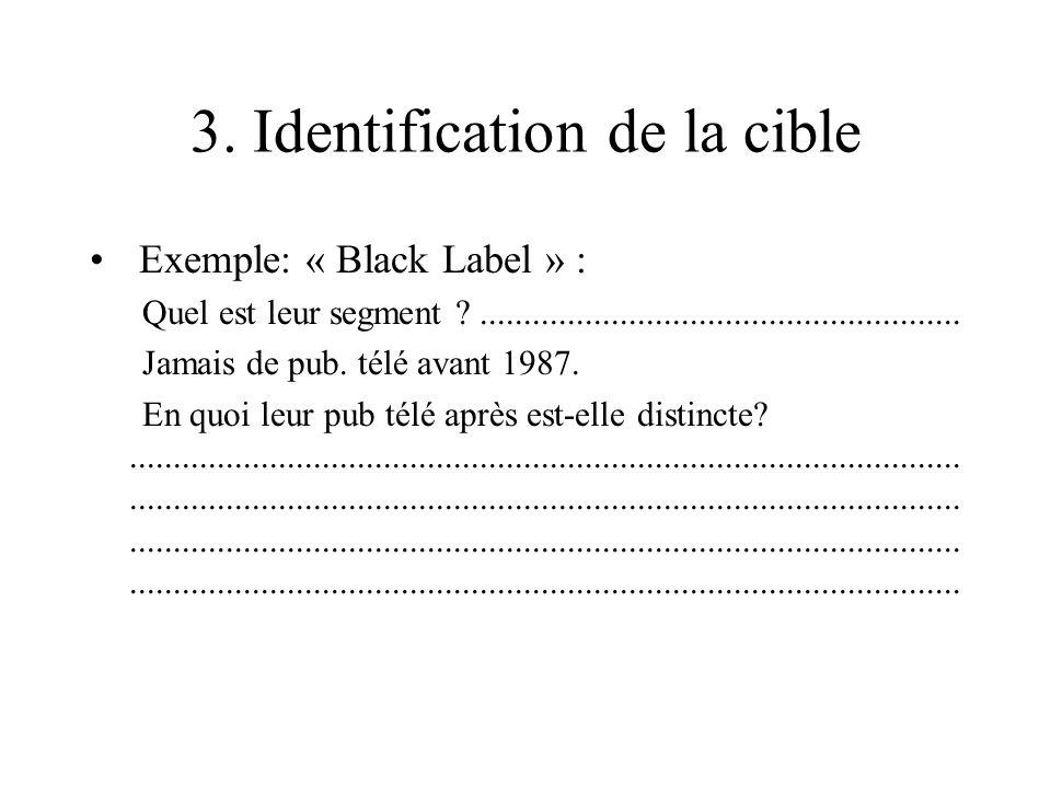 3. Identification de la cible