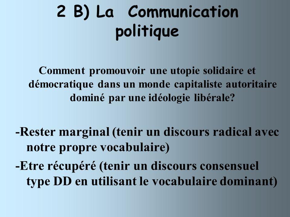 2 B) La Communication politique