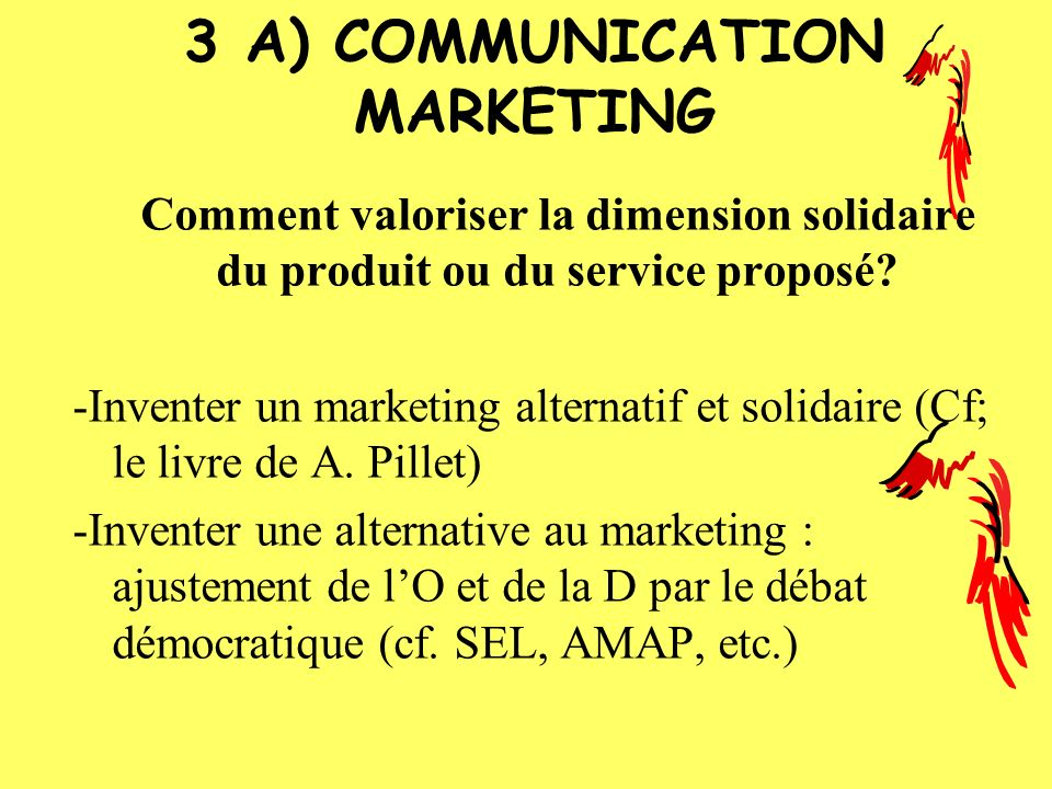 3 A) COMMUNICATION MARKETING