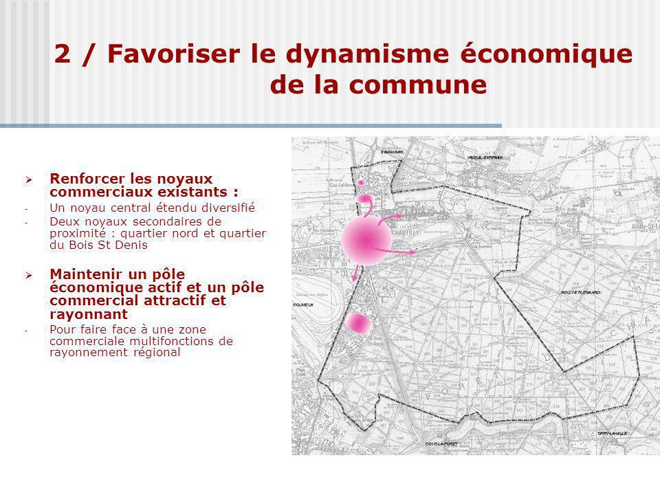 2 / Favoriser le dynamisme économique de la commune