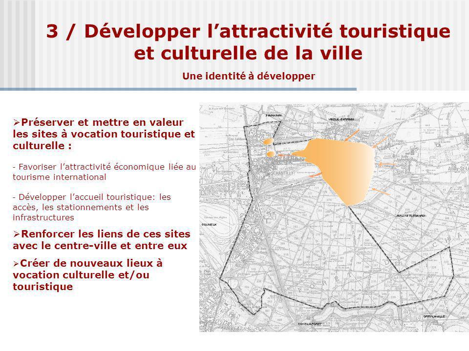 3 / Développer l'attractivité touristique et culturelle de la ville Une identité à développer