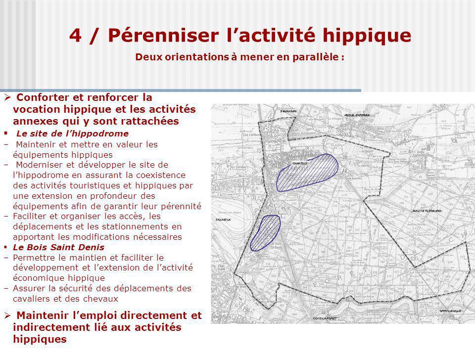 4 / Pérenniser l'activité hippique