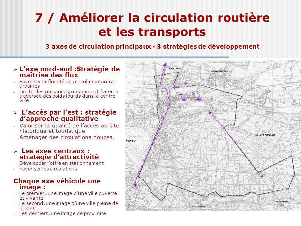 7 / Améliorer la circulation routière et les transports 3 axes de circulation principaux - 3 stratégies de développement