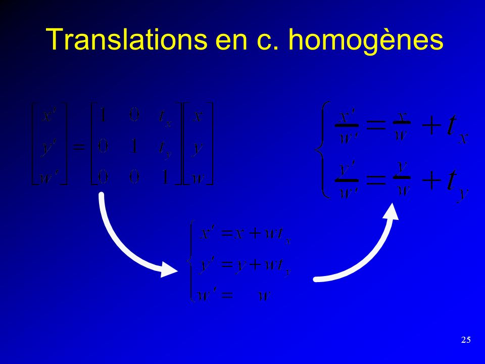 Translations en c. homogènes