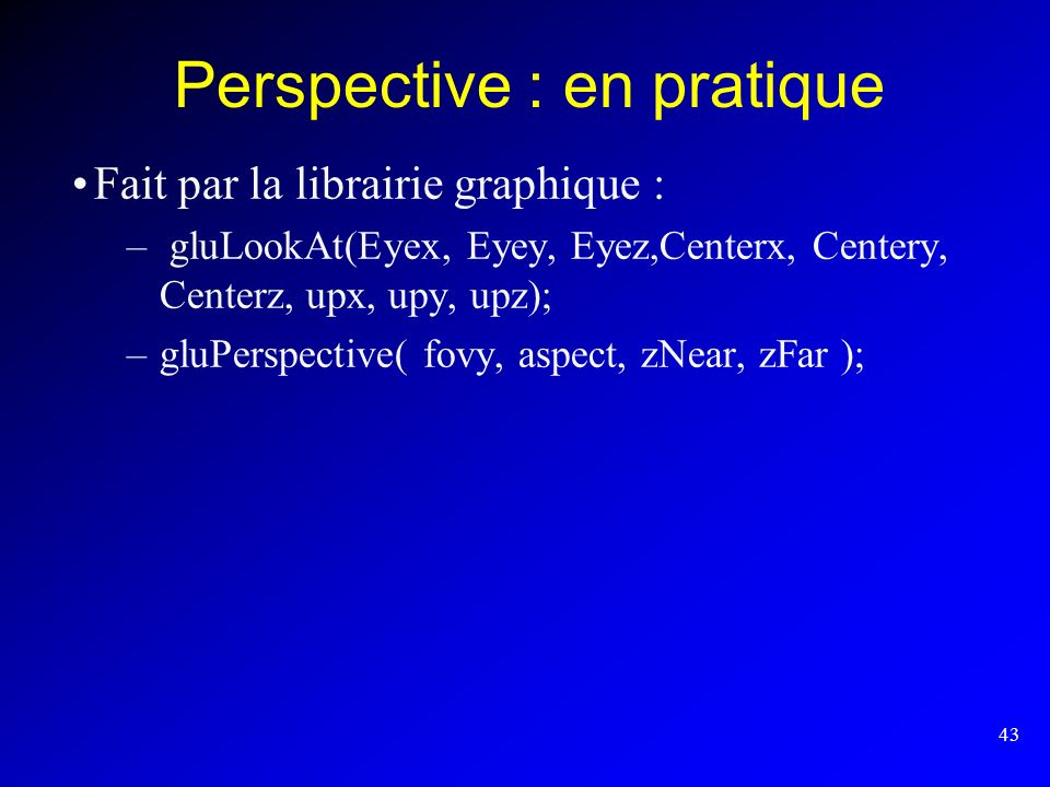Perspective : en pratique