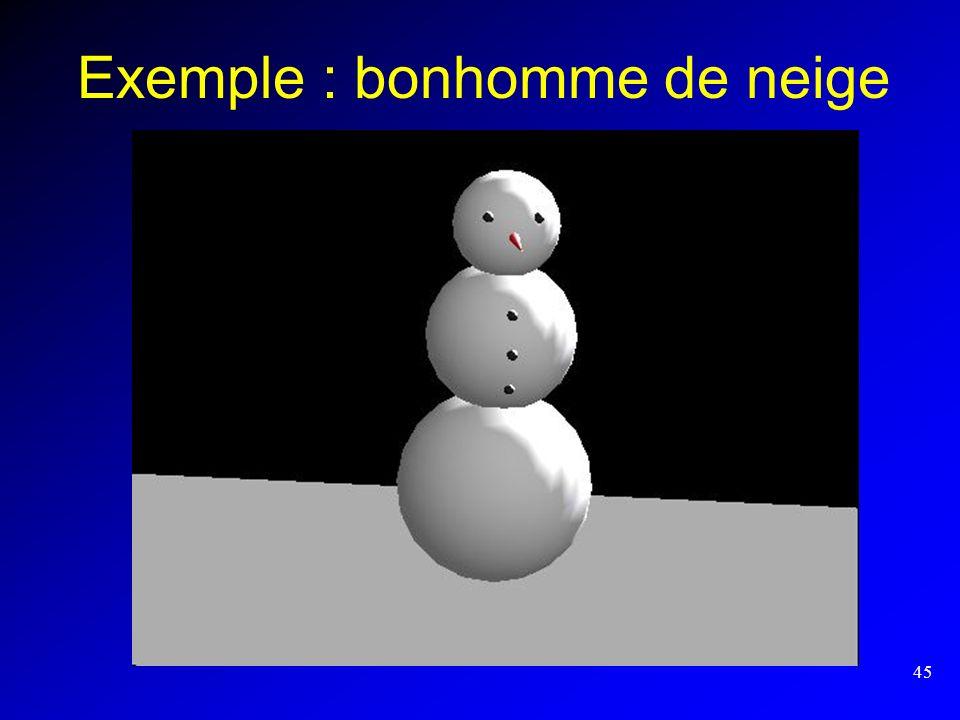 Exemple : bonhomme de neige