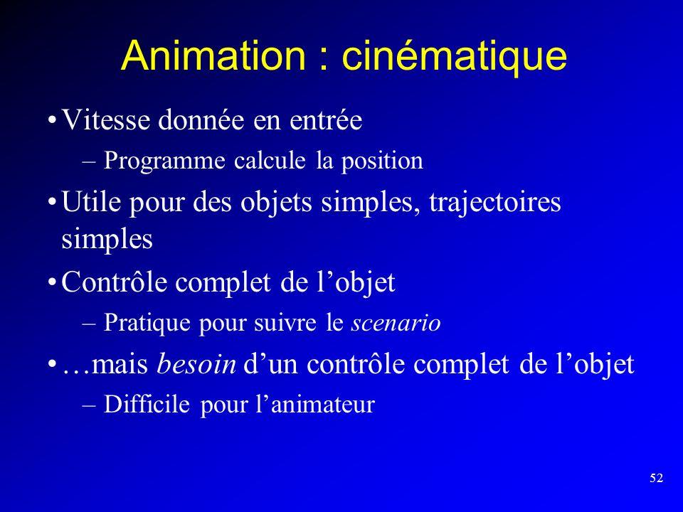 Animation : cinématique