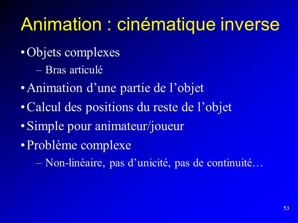 Animation : cinématique inverse