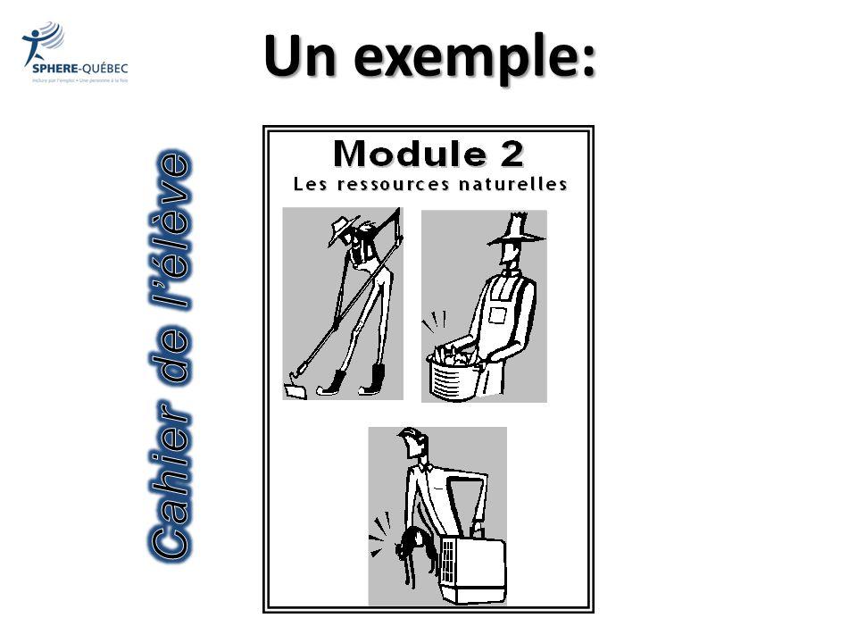 Un exemple: Cahier de l'élève