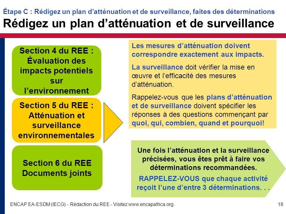 Section 5 du REE : Atténuation et surveillance environnementales