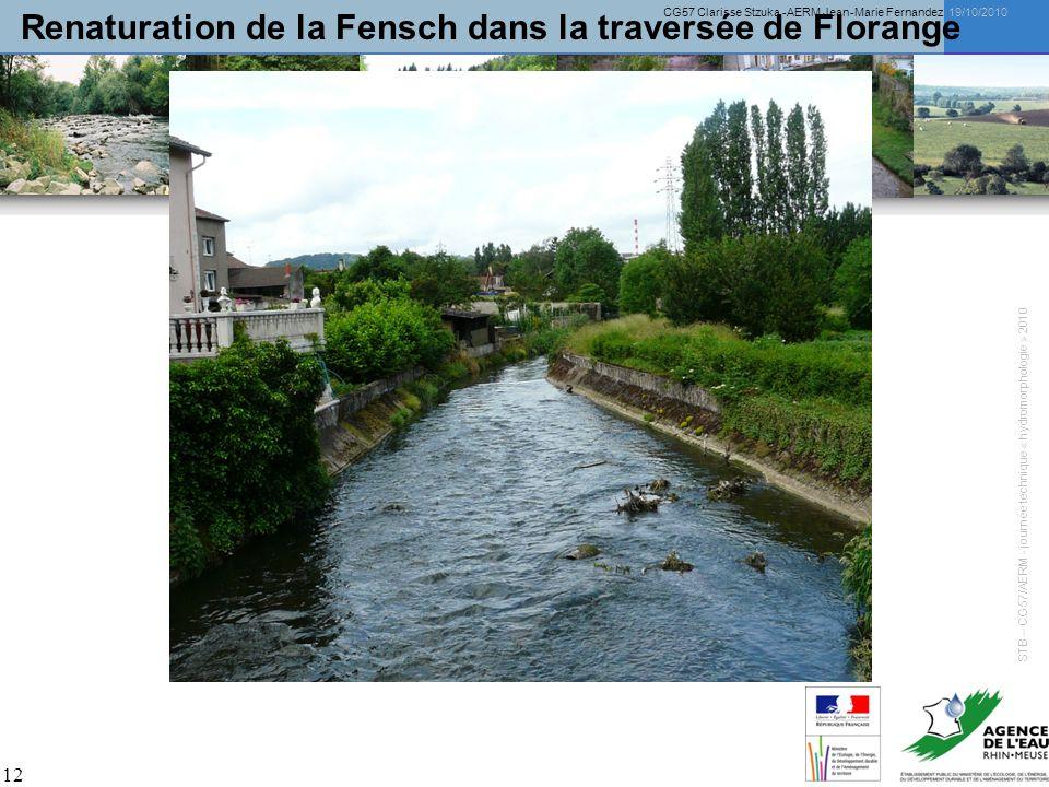 Renaturation de la Fensch dans la traversée de Florange