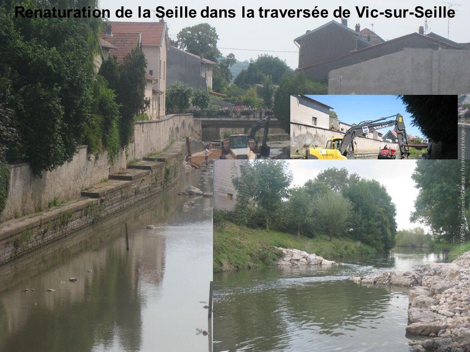 Renaturation de la Seille dans la traversée de Vic-sur-Seille