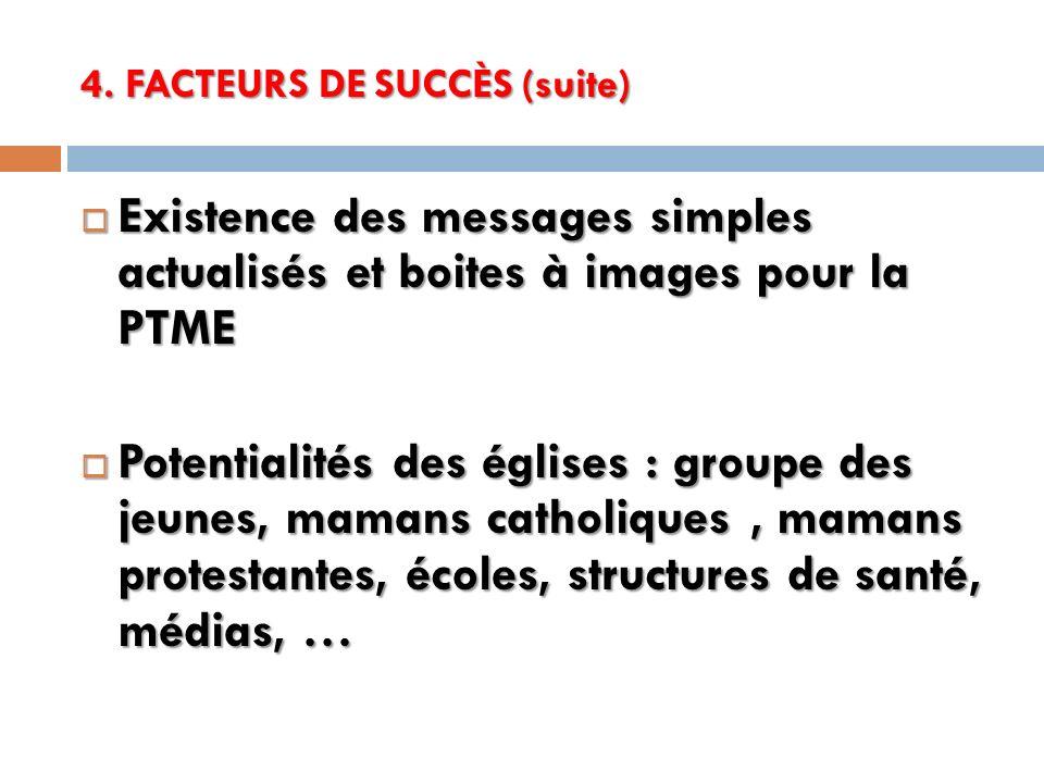 4. FACTEURS DE SUCCÈS (suite)