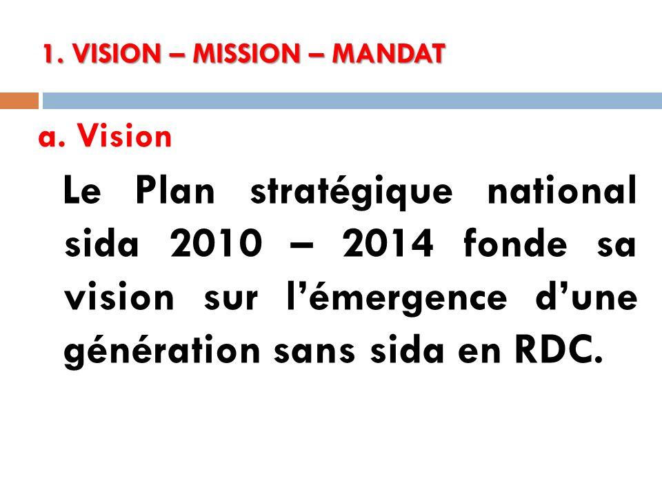1. VISION – MISSION – MANDAT