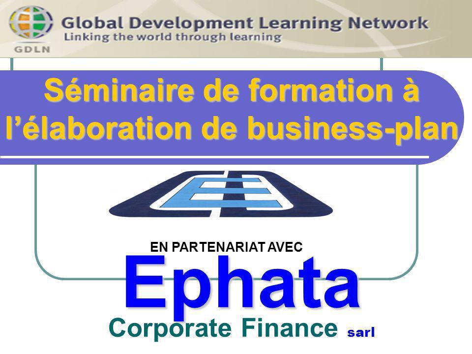 Séminaire de formation à l'élaboration de business-plan