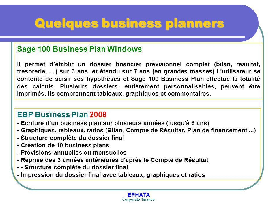 Quelques business planners