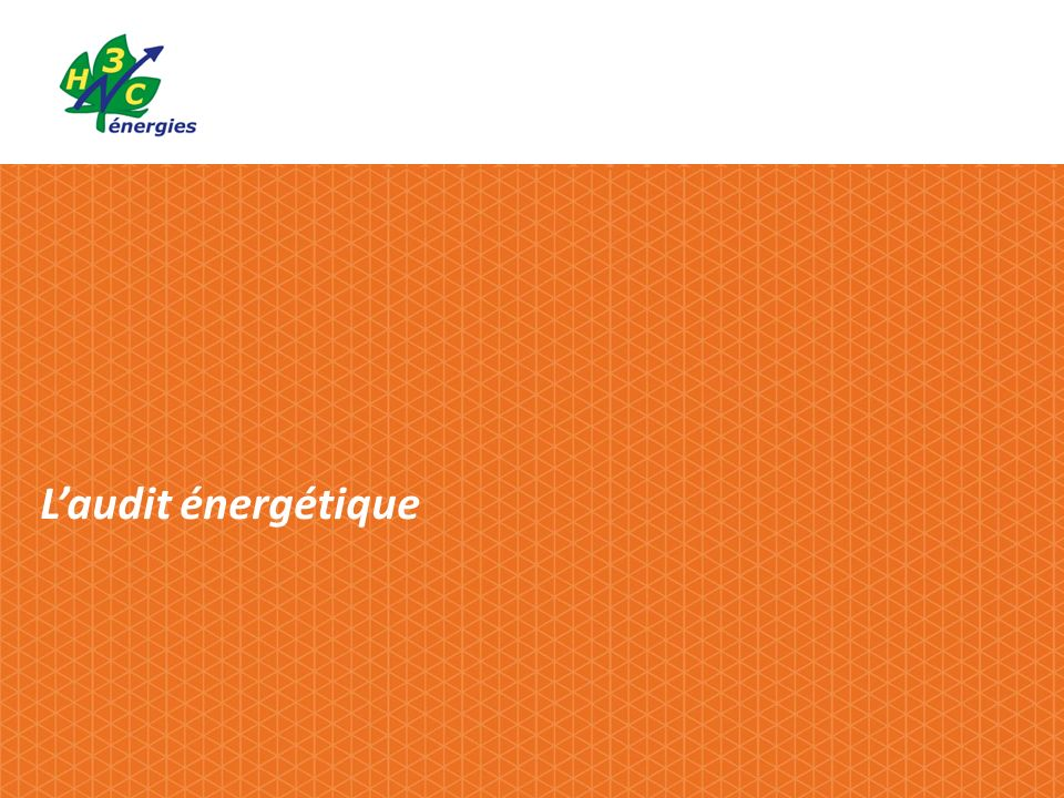 L'audit énergétique