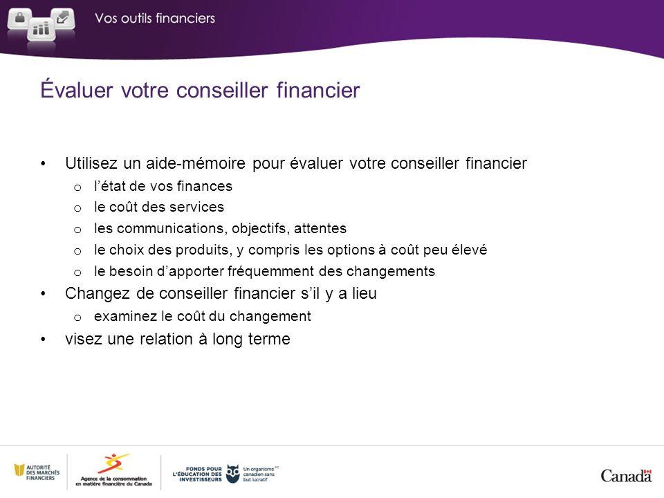 Évaluer votre conseiller financier