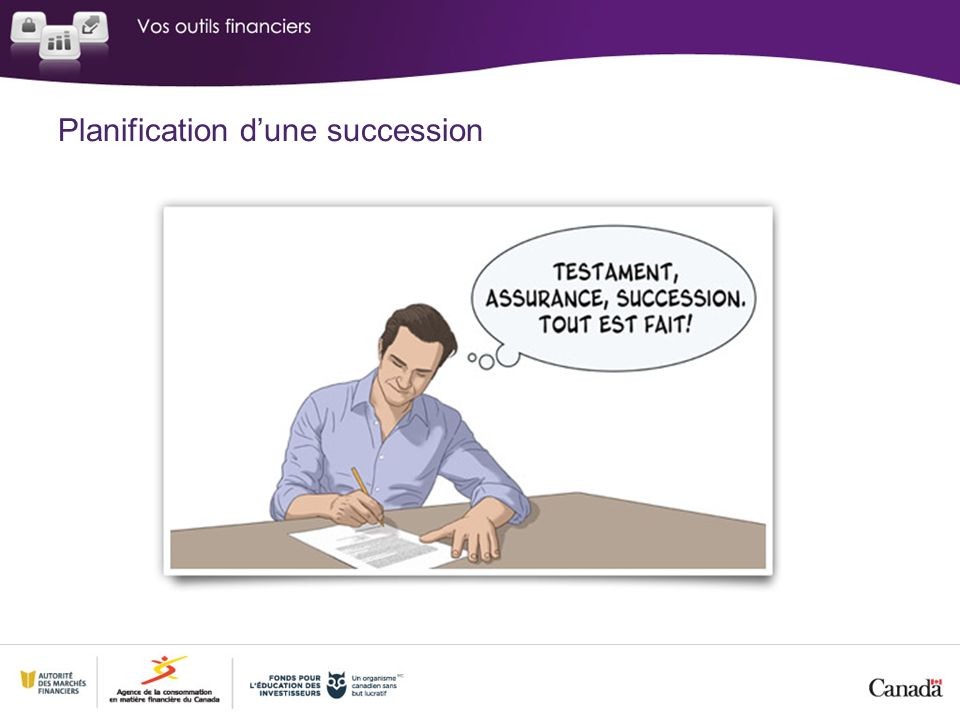Planification d'une succession