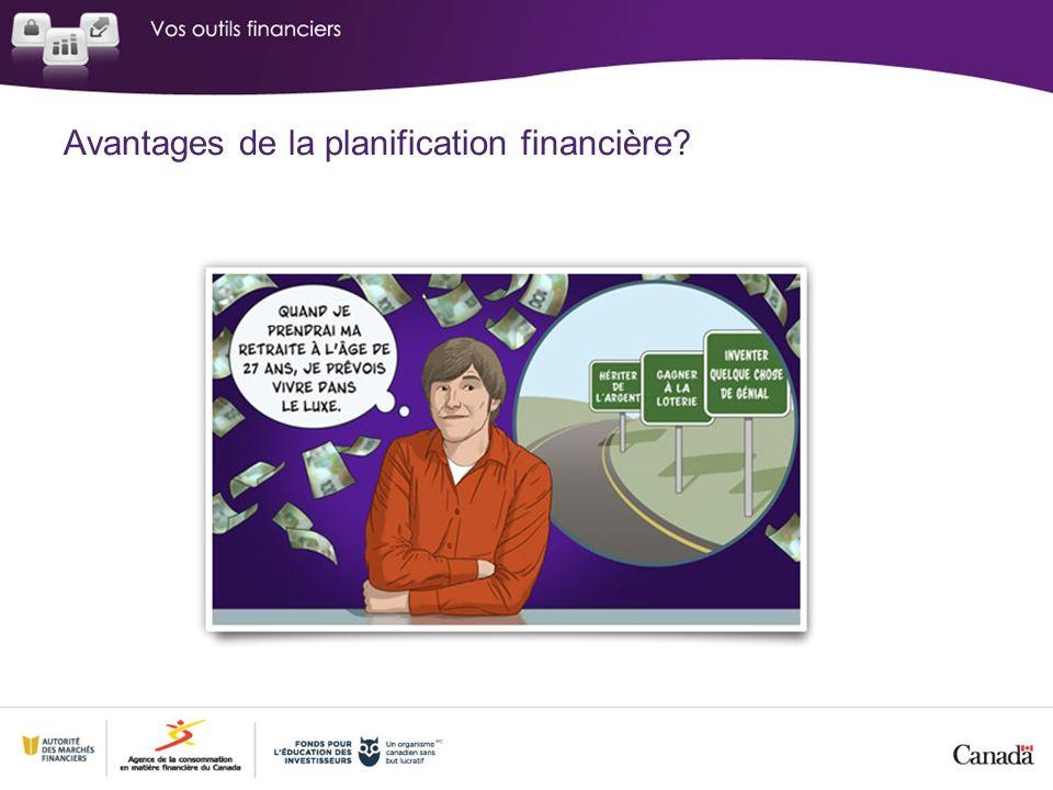 Avantages de la planification financière