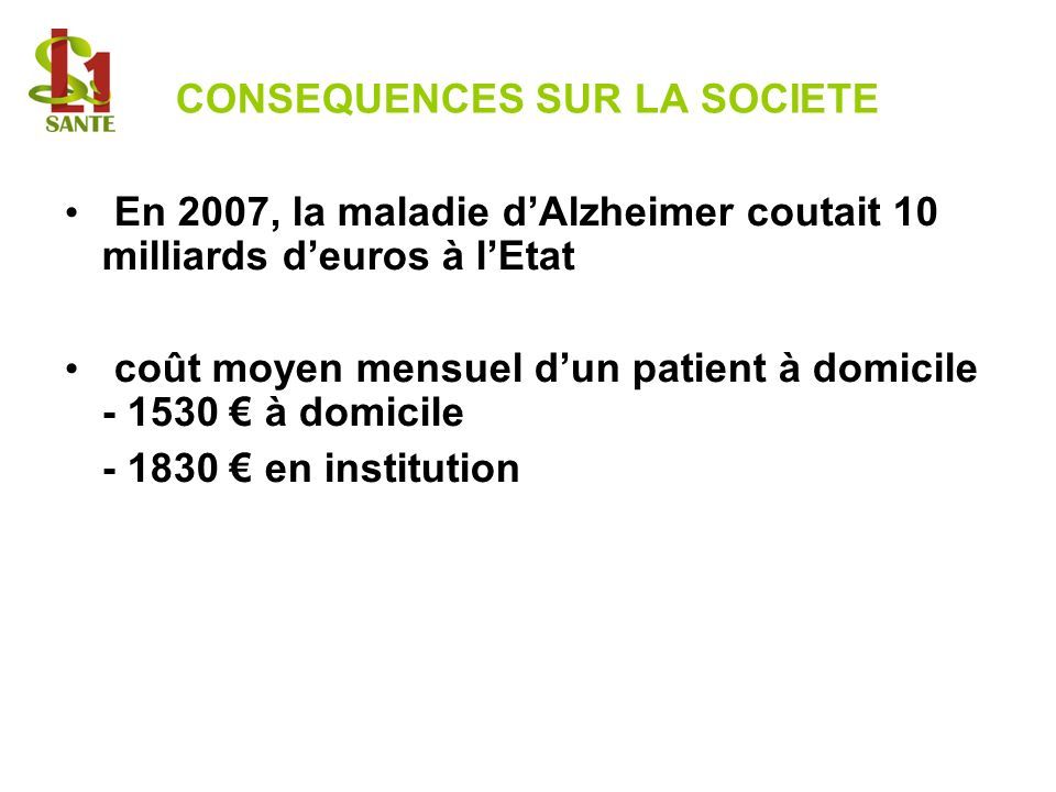 CONSEQUENCES SUR LA SOCIETE