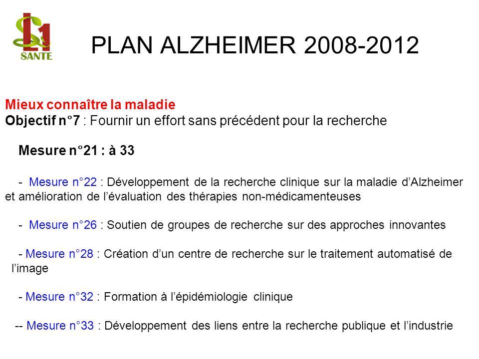 PLAN ALZHEIMER 2008-2012 Mieux connaître la maladie
