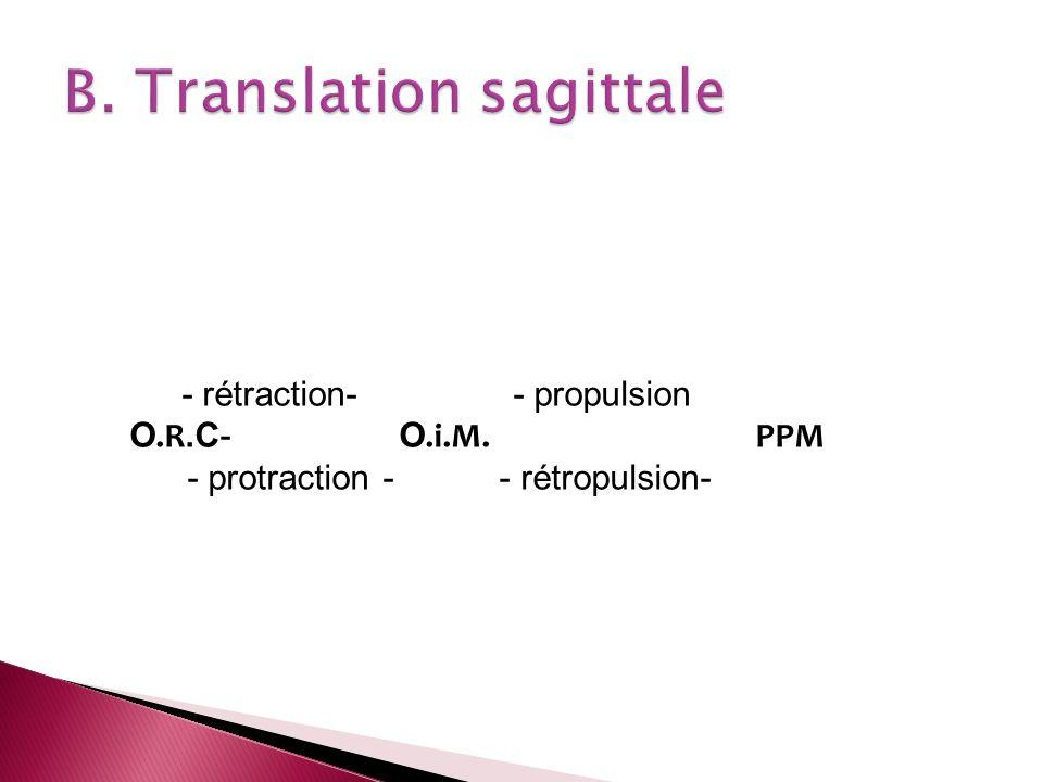 B. Translation sagittale