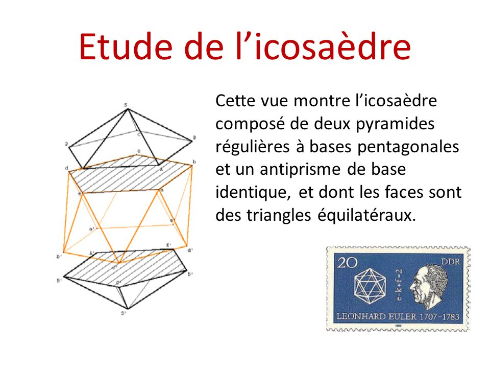 Etude de l'icosaèdre