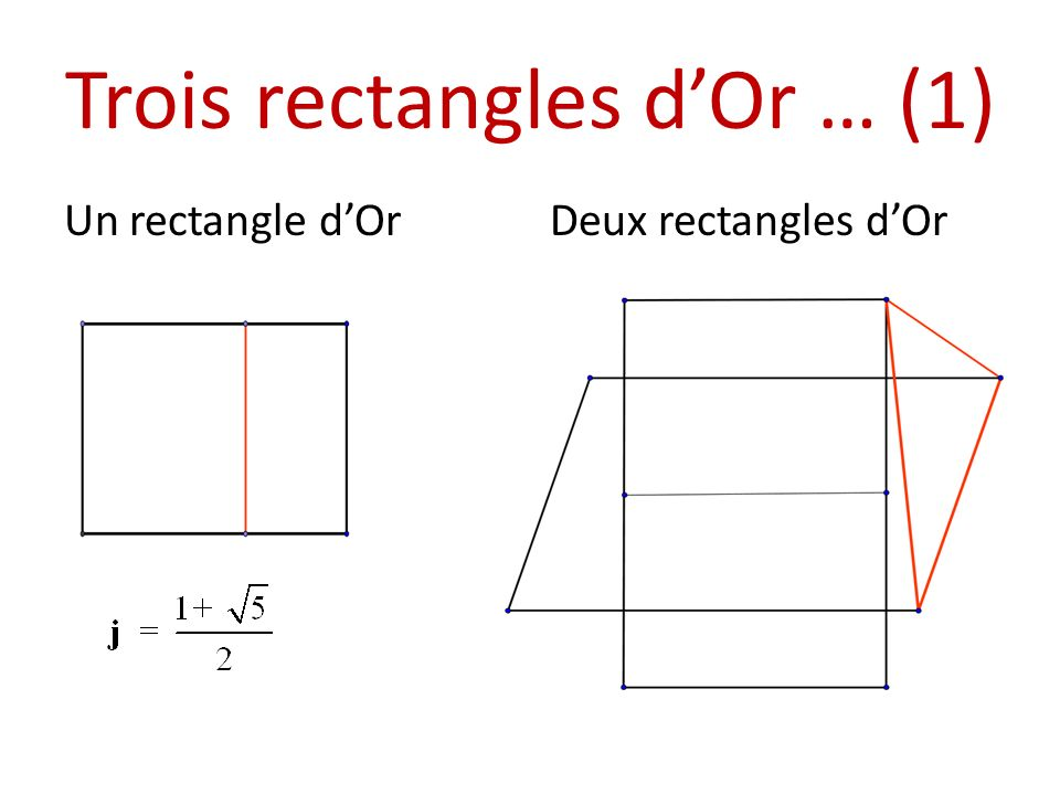 Trois rectangles d'Or … (1)