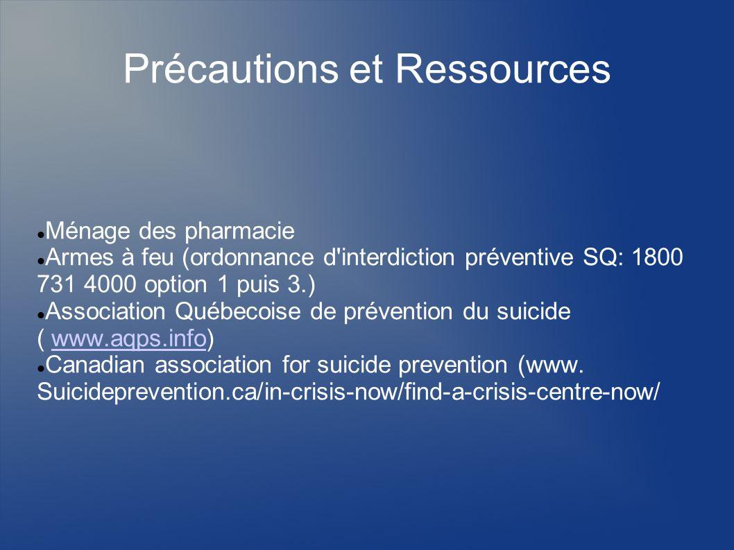 Précautions et Ressources