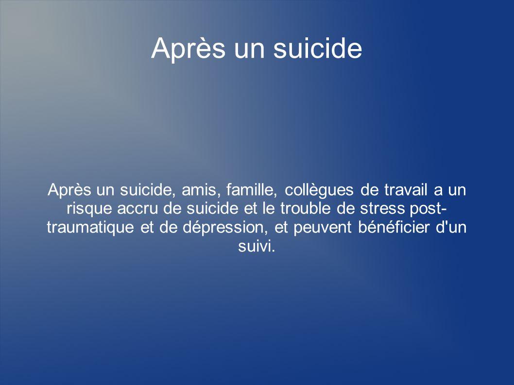 Après un suicide